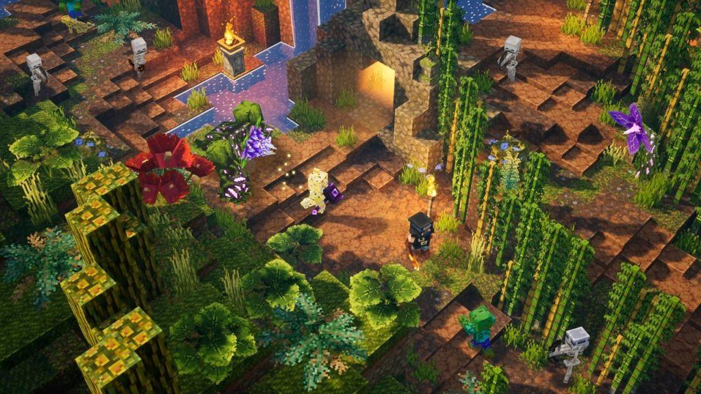 Minecraft Dungeons - дополнение Jungle Awakens выйдет в июле, Creeping Winter позже в 2020 1