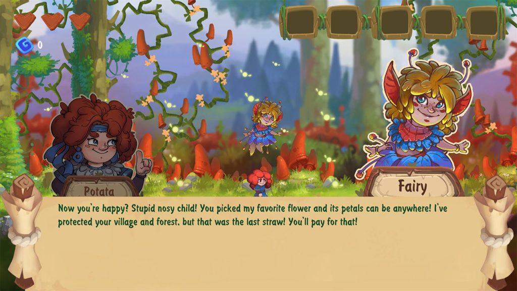 Феи, грибы и рыжуля - анонс платформера Potata: Fairy Flower 5