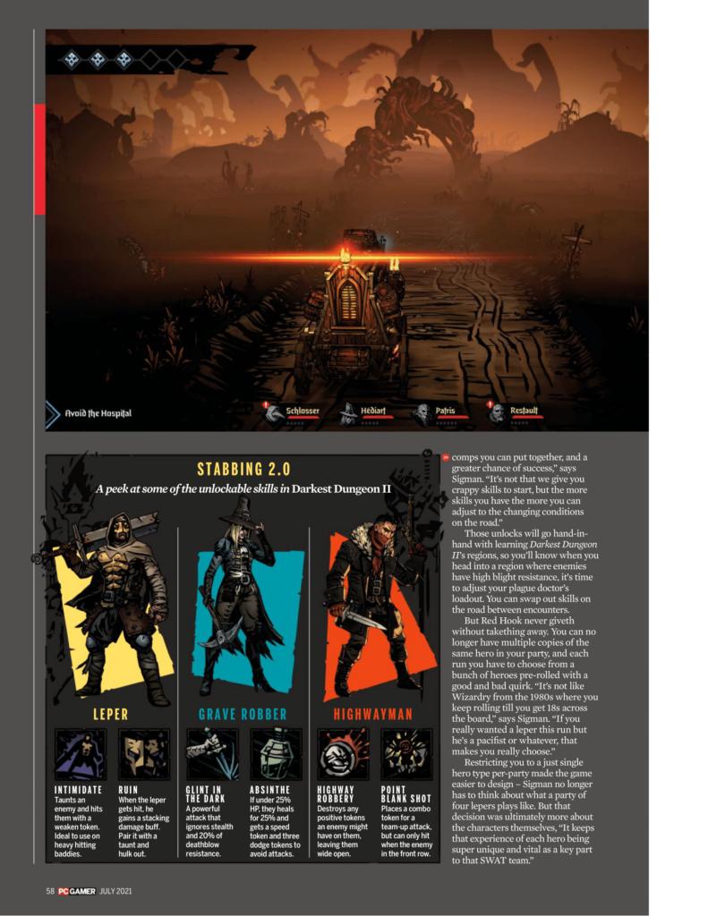 Подробности Darkest Dungeon II из нового номера PC Gamer 8