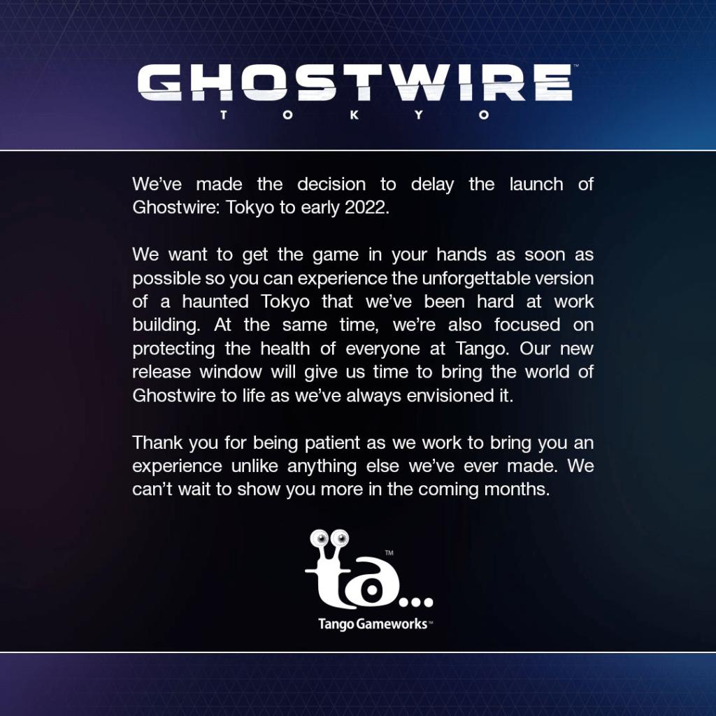 Ghostwire: Tokyo - релиз временного эксклюзива PS5 перенесли на начало 2022-го 1