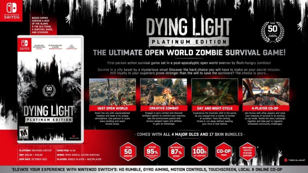 СМИ: Dying Light: Platinum Edition выйдет на Nintendo Switch 1