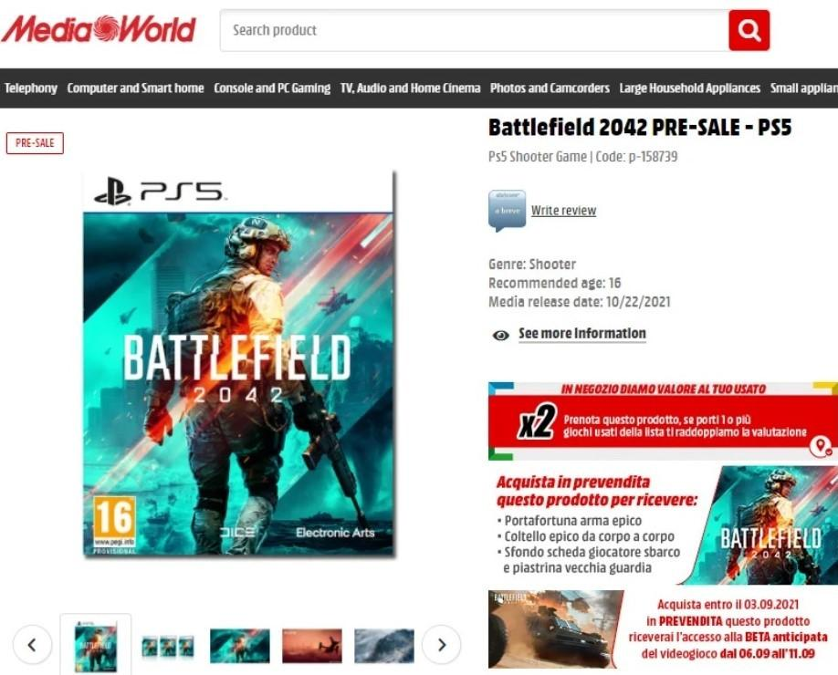 Похоже, что бета-тест Battlefield 2042 стартует уже 6 сентября 1