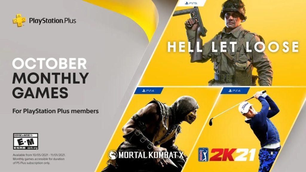 Hell Let Loose, Mortal Kombat X и PGA Tour 2K21 - стали известны игры по подписке PS+ в октябре 1