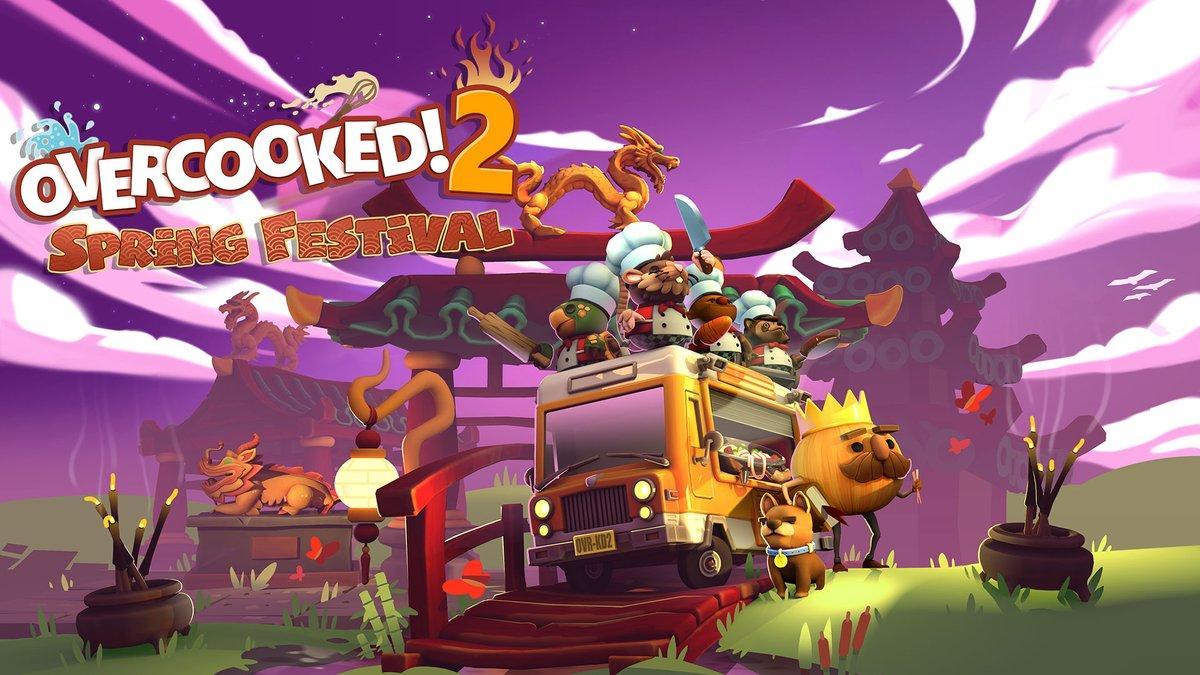 Для Overcooked 2 вышло бесплатное дополнение Spring Festival 98