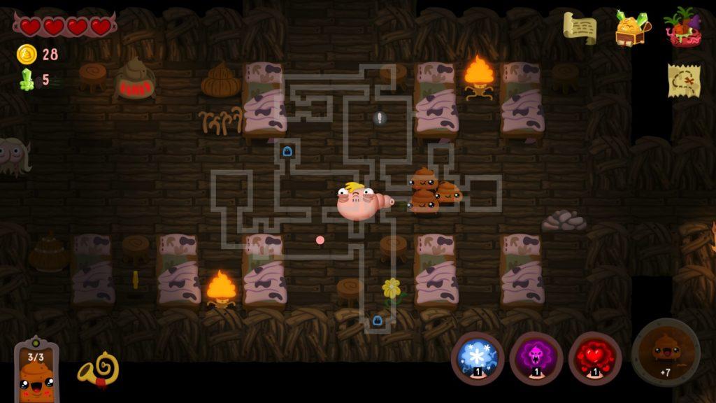 Poopdie - фекальный dungeon crawler анонсирован для Nintendo Switch 3