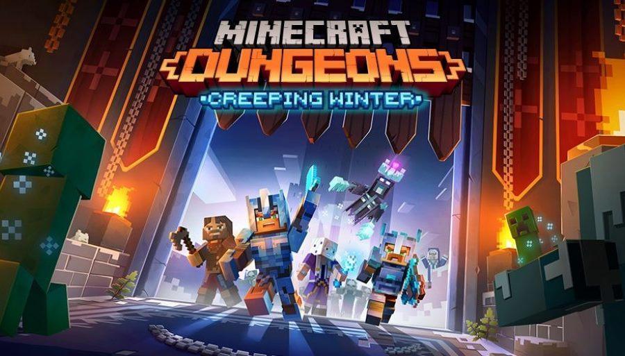Minecraft Dungeons - дополнение Creeping Winter, бесплатное обновление и релиз на носителях 99
