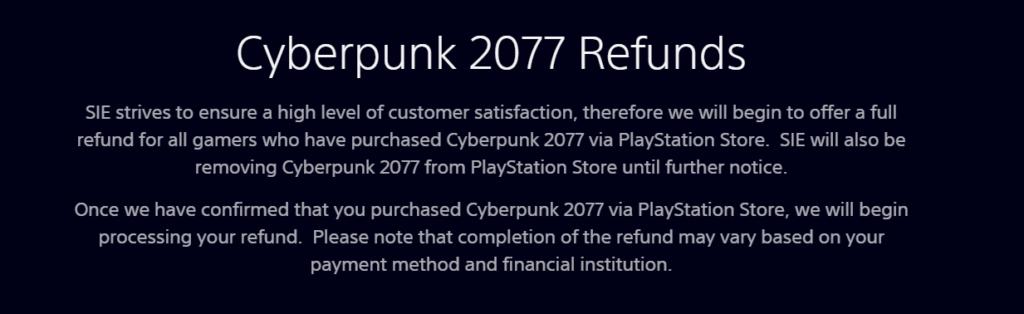 Скандал набирает обороты - Sony удалила Cyberpunk 2077 из PSN 1