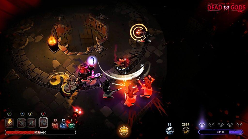 Рогалик Curse of the Dead Gods анонсирован для Nintendo Switch, релиз игры состоится в феврале 3