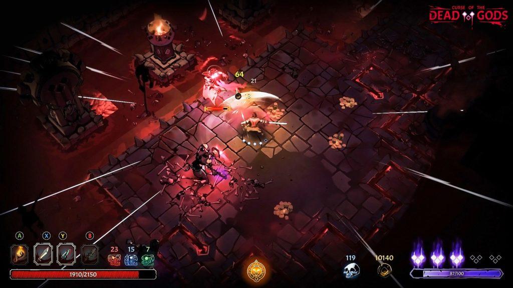 Рогалик Curse of the Dead Gods анонсирован для Nintendo Switch, релиз игры состоится в феврале 4