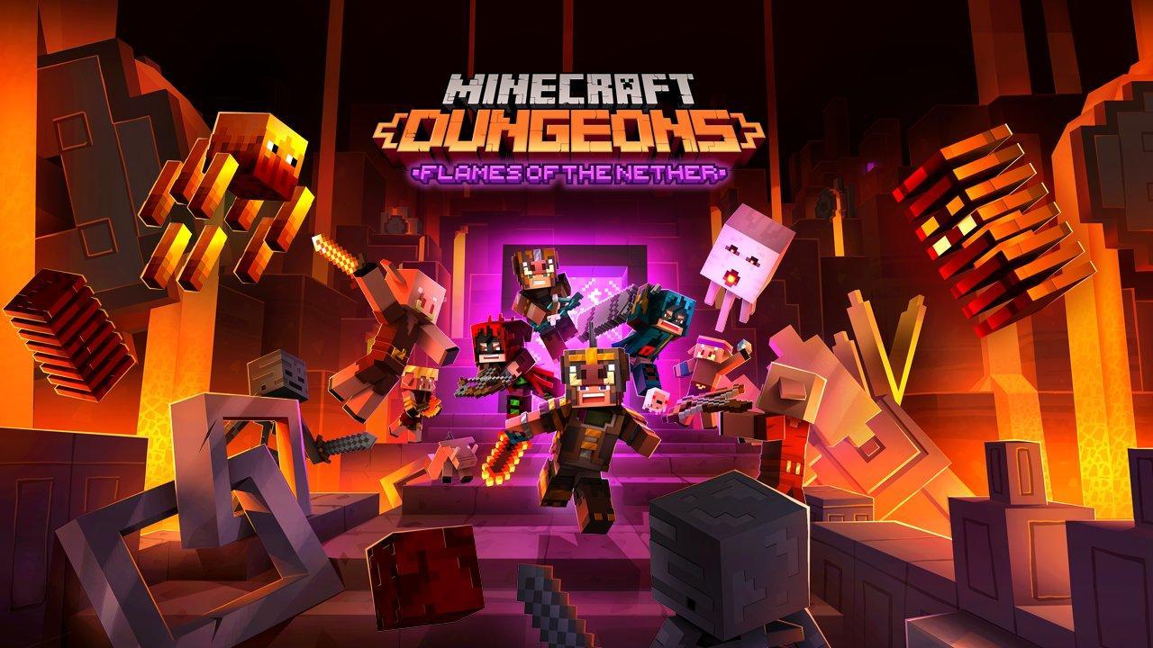 Minecraft Dungeons – дополнение Flames of the Nether и бесплатное обновление выйдут в феврале 2