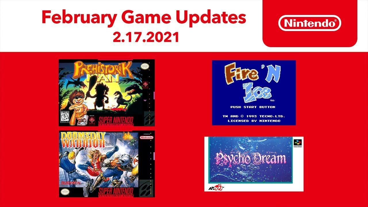 Nintendo Switch Online - в феврале 2021-го подписчики получат три игры для SNES и одну для NES 2
