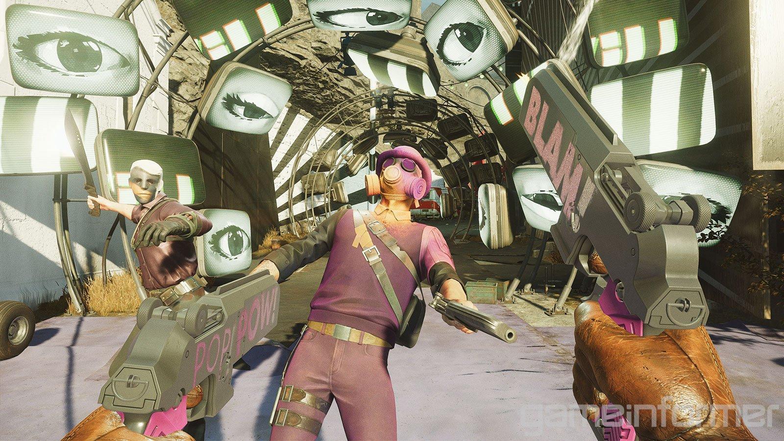 Яркие краски и противники в масках - свежие скриншоты и арты Deathloop 21