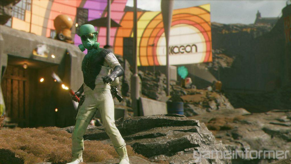 Яркие краски и противники в масках - свежие скриншоты и арты Deathloop 7