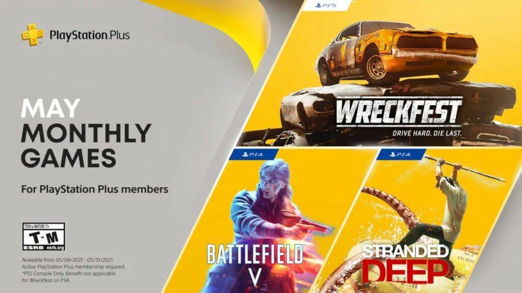 Battlefield V, Wreckfest, Stranded Deep - стали известны игры мая по подписке PS Plus 1